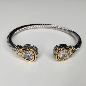Designer inspired cable bracelet